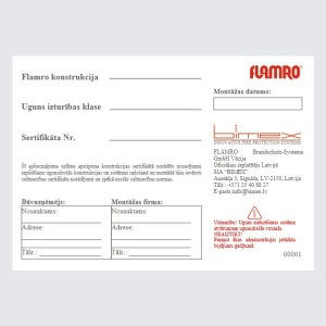 Flamro identification label
